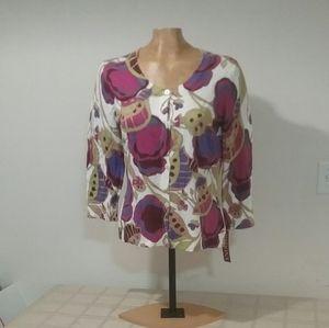 NWT Floral MERONA Cardigan Size L